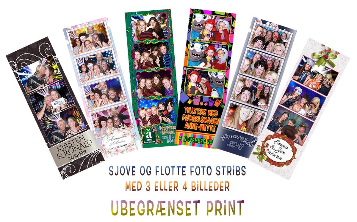 Photobooth med ægte Foto-stribs